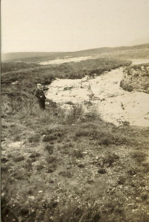 Mr Hardie at a moorland river