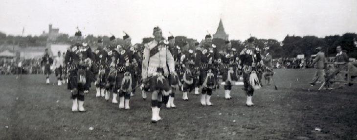 Dornoch Pipe Band  c 1930