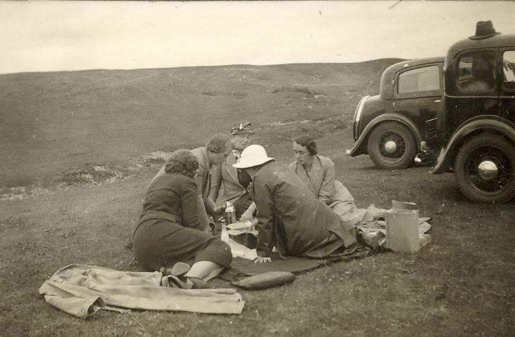 A picnic group c 1930