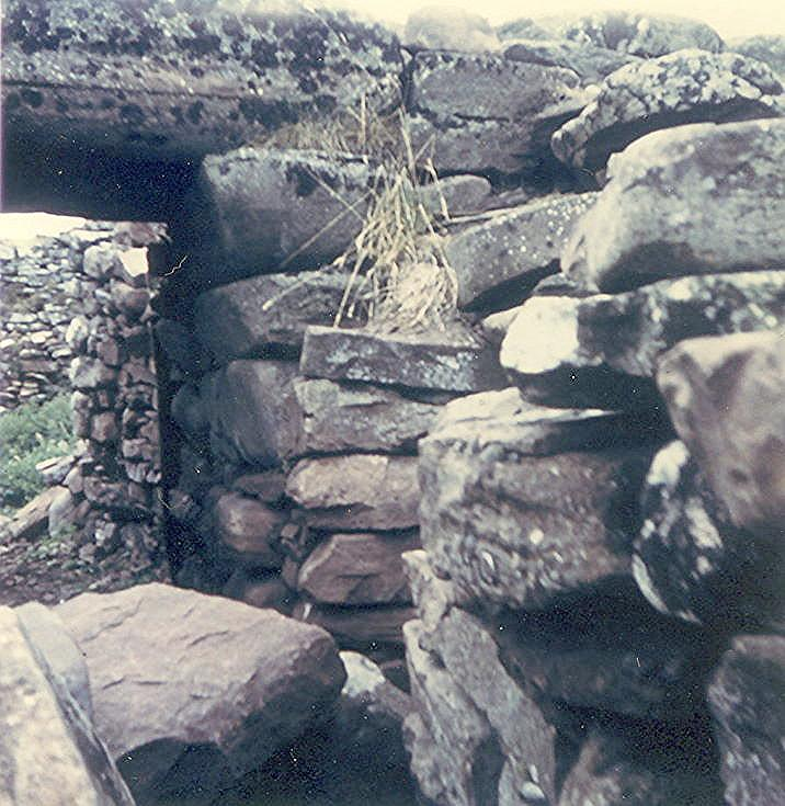 Entrance to broch at Carn Liath, Strath Steven