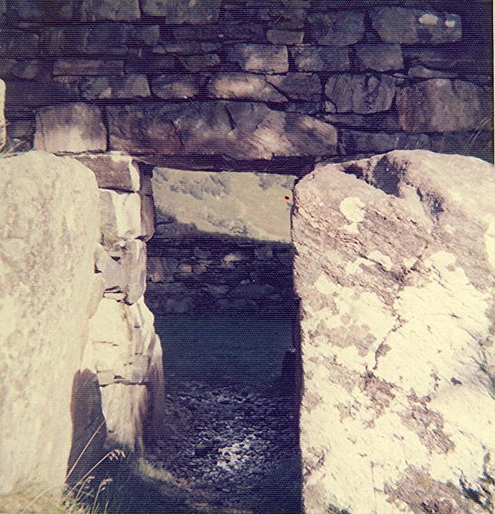 Broch at Dun Telve, Glenelg ~ Doorway