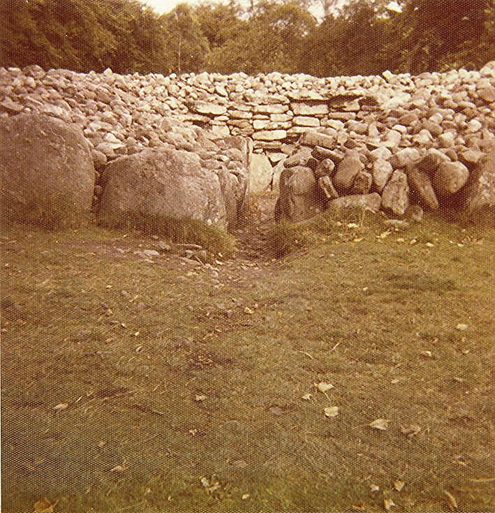 Chambered Tomb at Clava Mains Cairn (10) ~ Passage Grave