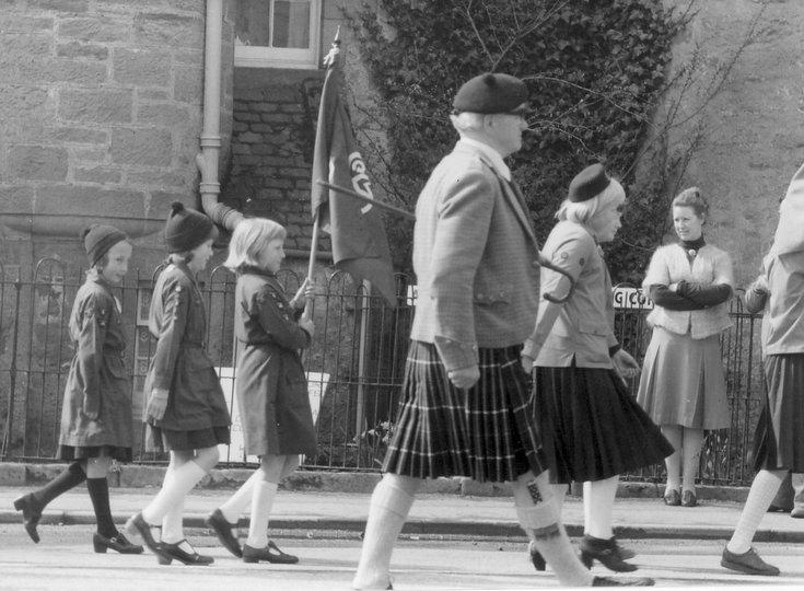 Dornoch Brownies on parade 1988 - 1989