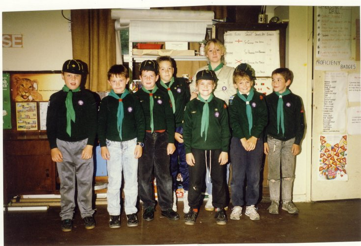Dornoch Cubs and Akela Tessa Wild 1988 - 1989