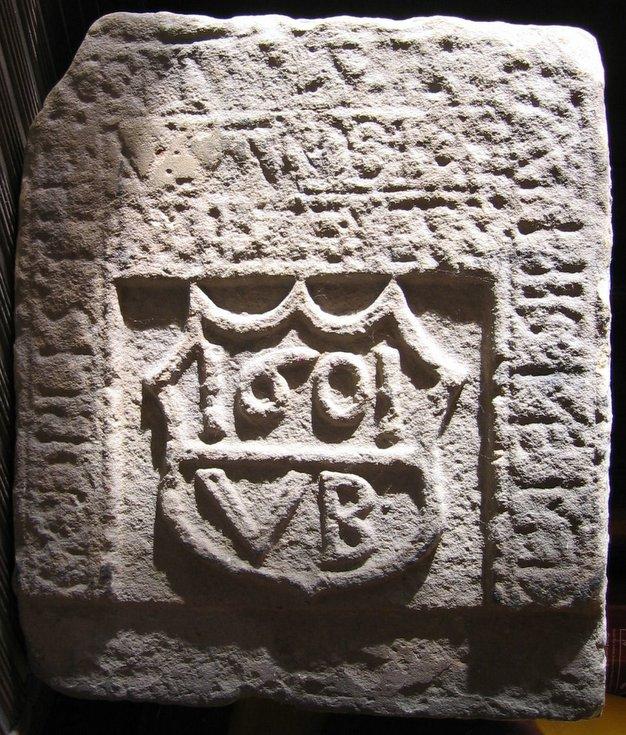 Carved stone found near Dornoch Library