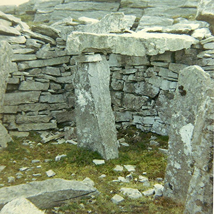 Round House (Eriboll?) ~ inside, showing east shelter