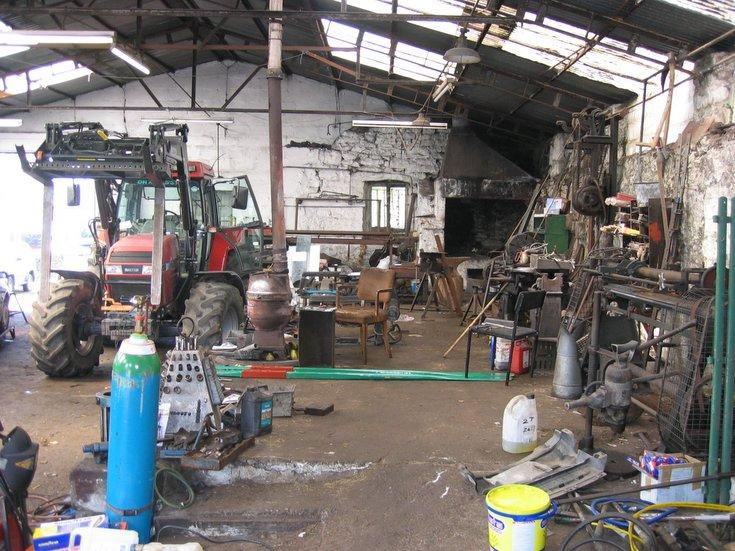 Interior of St Gilbert Street garage, Dornoch