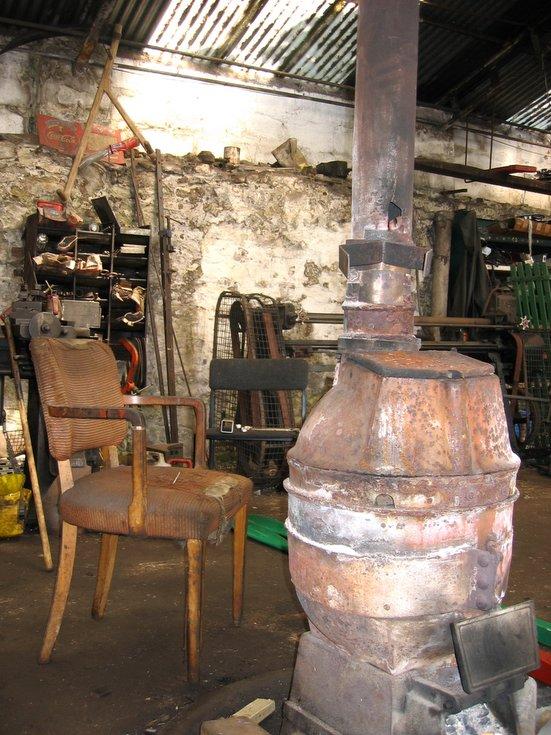 The heating stove, St Gilbert Street garage, Dornoch
