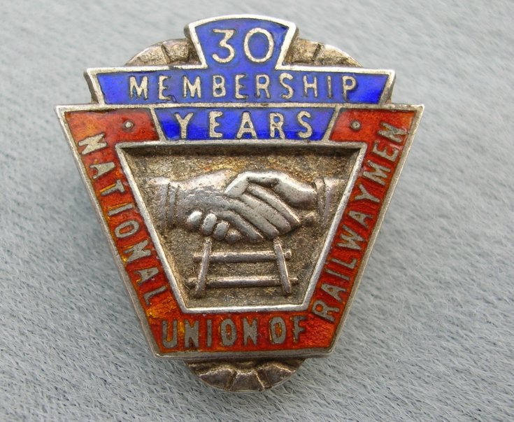 30 Year Membership Badge, National Union of Railwaymen