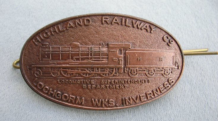 Lochgorm Works, Inverness Railway  Badge
