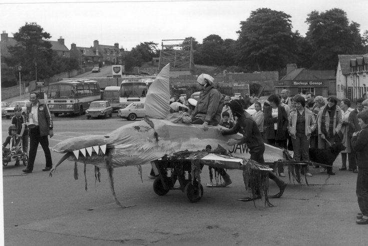 'Jaws' - pram race, Dornoch Festival week