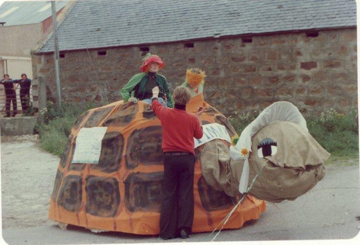 'Timmy the Tortoise' - pram race, Dornoch Festival week