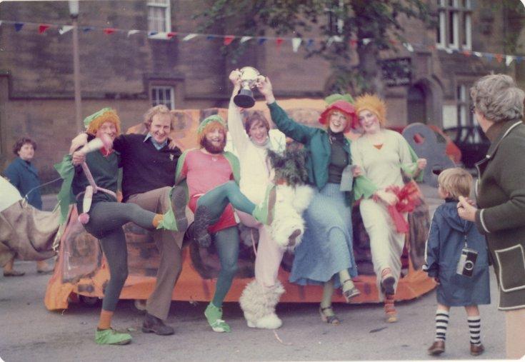 Winning team Dornoch Festival week pram race