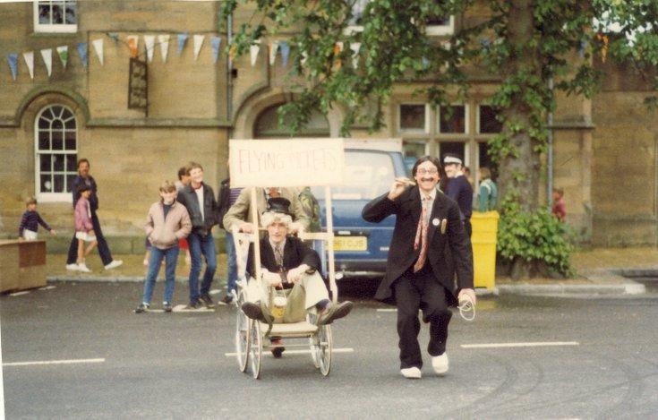 'The Flying Pickets' Dornoch Festival week pram race