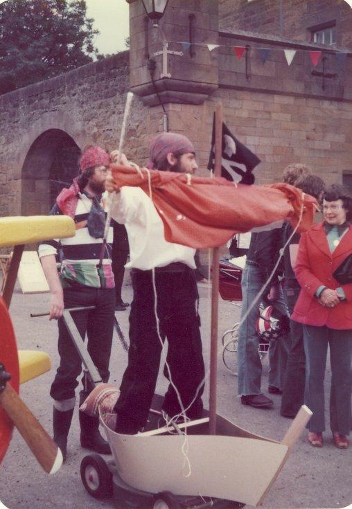 Pirates in the pram race Dornoch Festival week