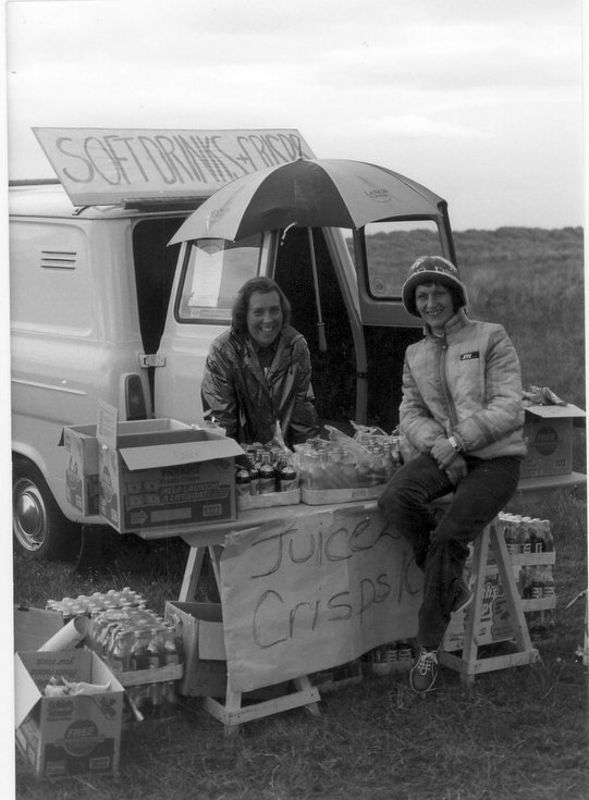 Refreshment stall  and helpers Dornoch Festival week
