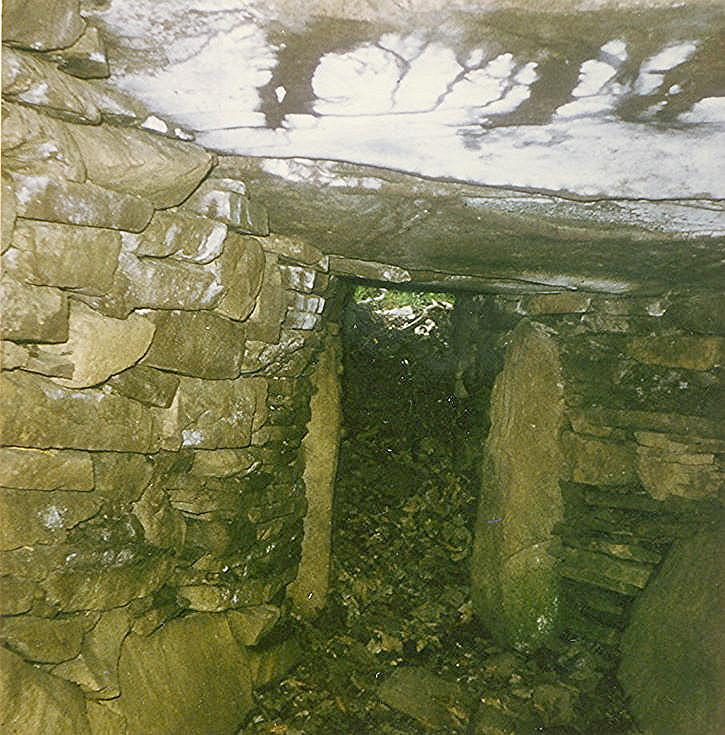 Earth House at Kirkton ~ Entrance from inside