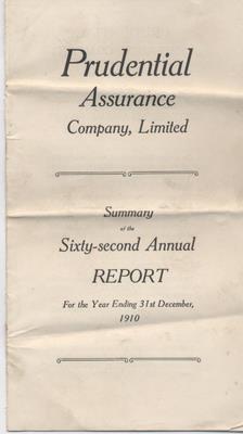 Prudential Annual Report 1910