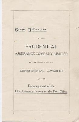 Prudential Assurance Co Ltd - Some references