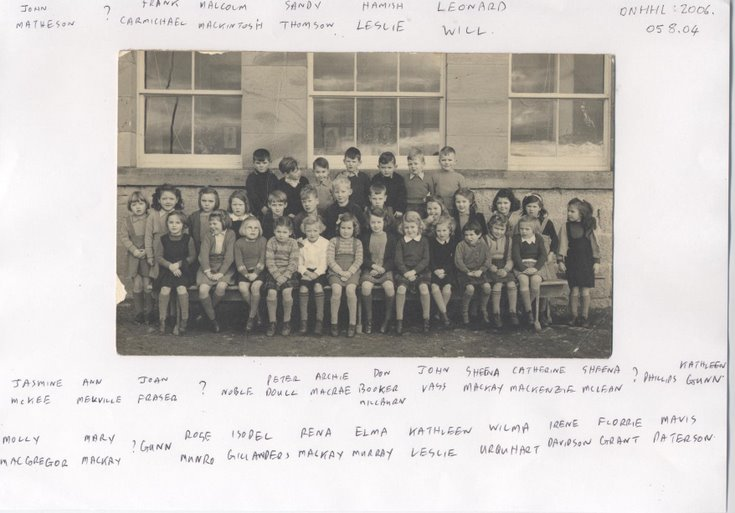 Dornoch Academy group photograph with names 1946