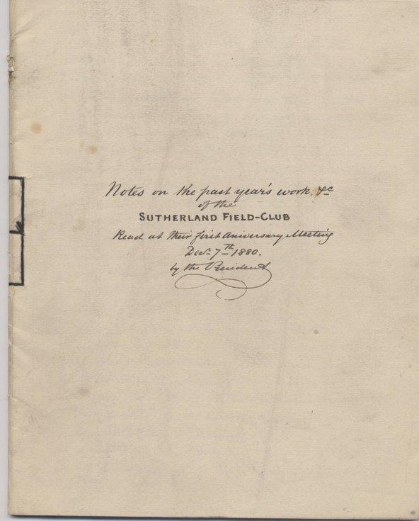 President's report for 1880