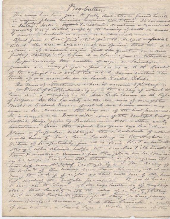 Notes on bog butter 1883