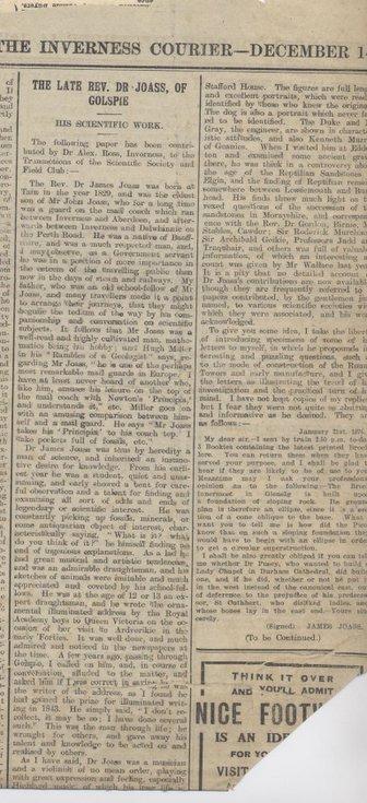 Obituary Rev Dr Joass 1917