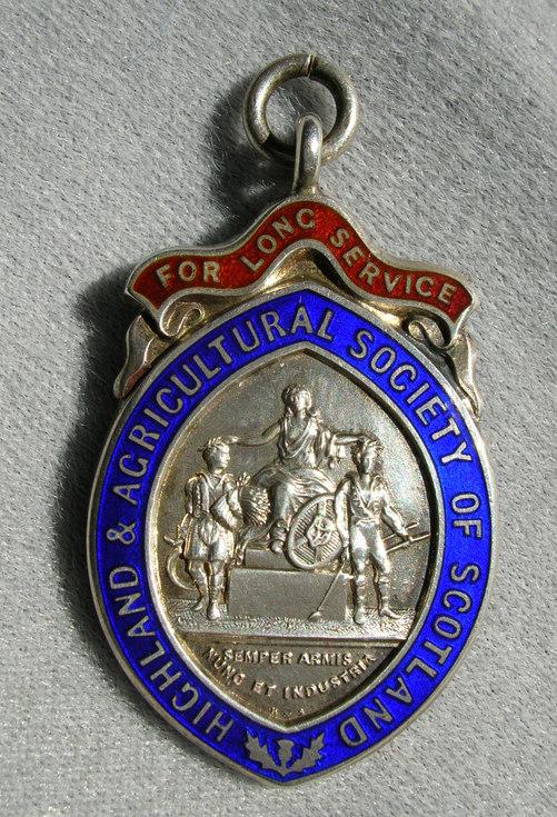 Long service agricultural medal