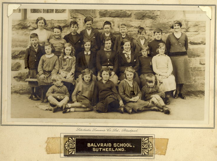 Balvraid School photograph 1936
