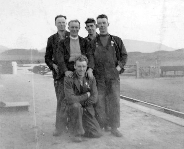 Five railway workers at Skelbo including James Matheson