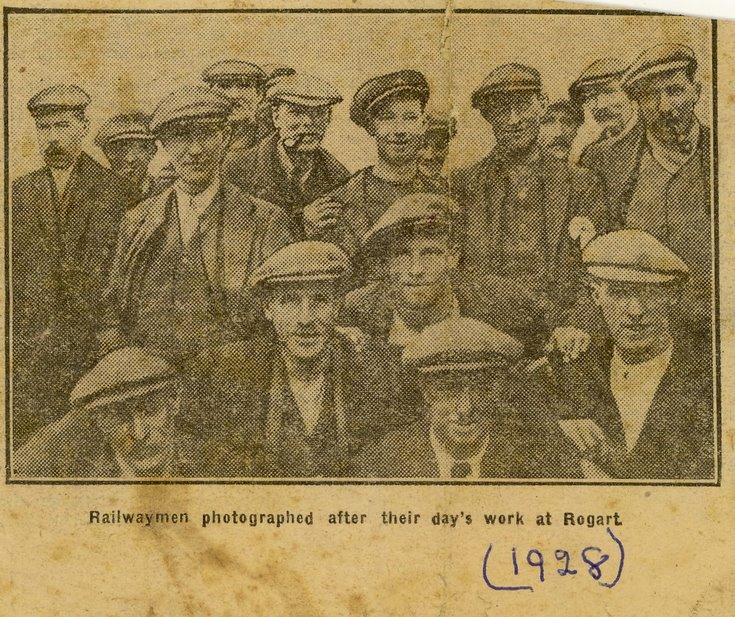 Railwaymen after their day's work