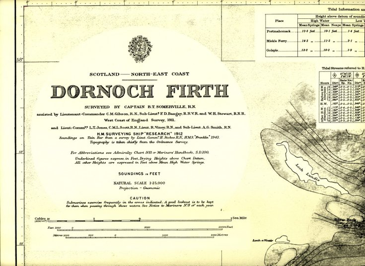 Admiralty Chart of Dornoch Firth 1912