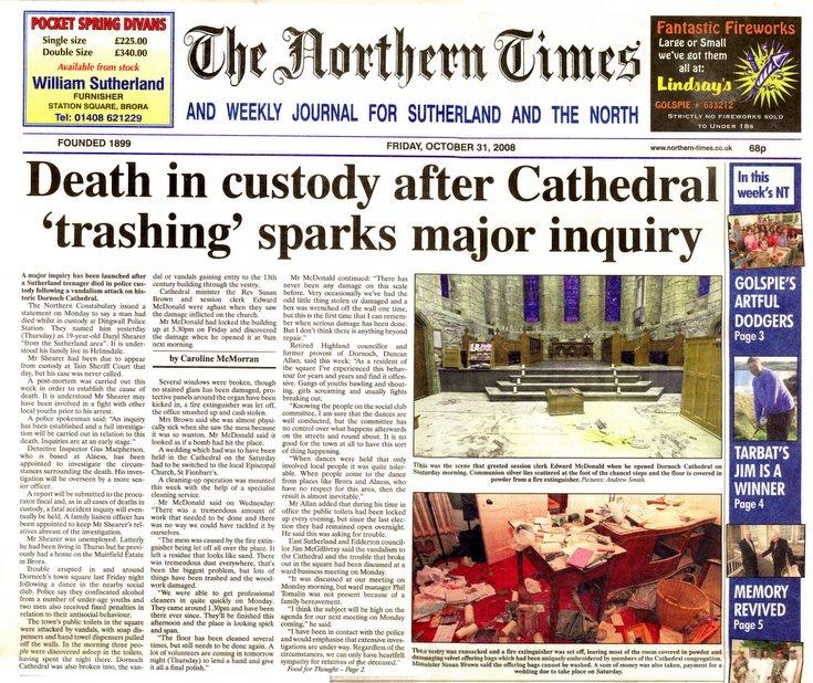 Cathedral Vandalism 2008