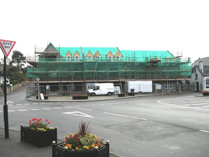 Final stages of construction on old Sutherland Arms Hotel site
