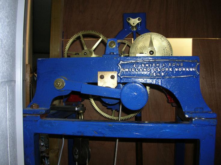Component parts of original Royal Dornoch Golf Club clock