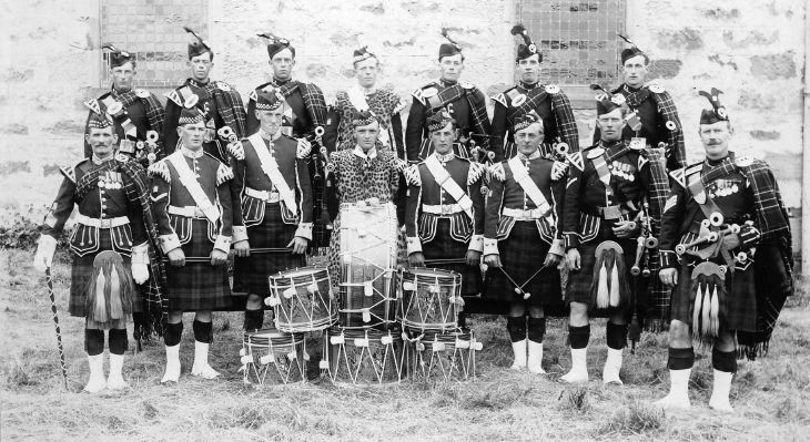 Dornoch Pipe Band group photograph c 1928