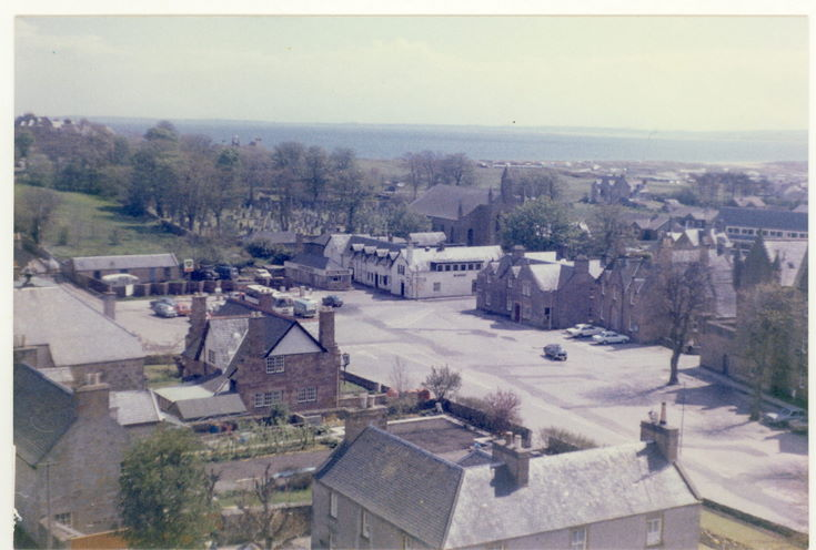 The Square Dornoch from the Cathedral tower c 1960