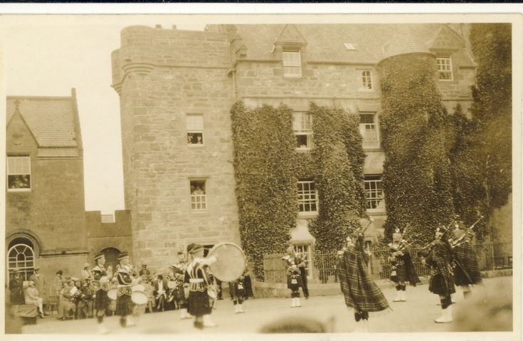 Dornoch  Pipe Band performing at the Pageant 1928