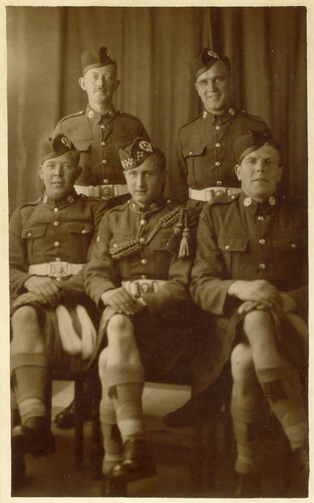 Seaforth Highlanders group photograph c 1939
