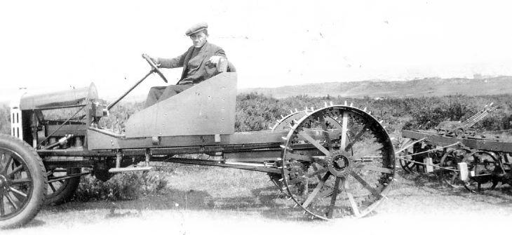 Dornoch Golf Club grass cutting vehicle