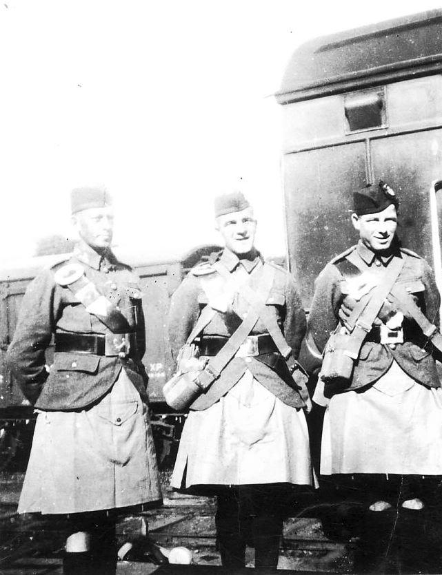 Seaforth Highlanders at Dornoch Station