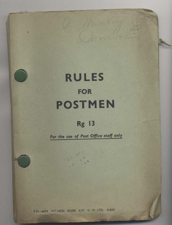 Rules for Postmen Rg 13