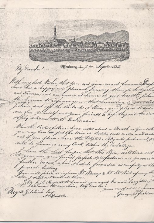 Letter to Dugald Gilchrist