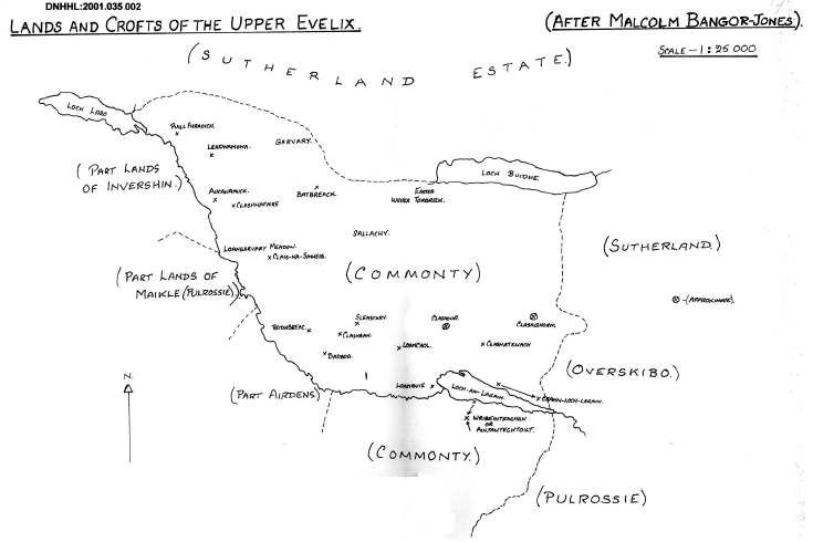 Lands and crofts of the Upper Evelix