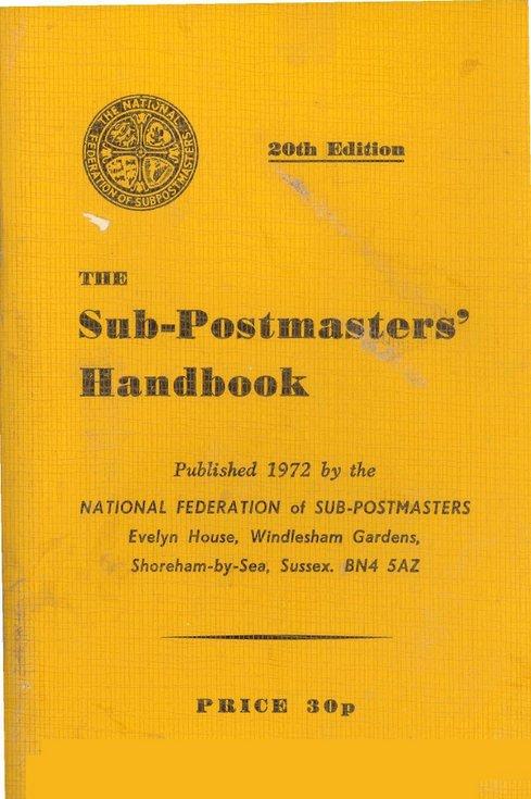 The Sub-Postmasters' Handbook