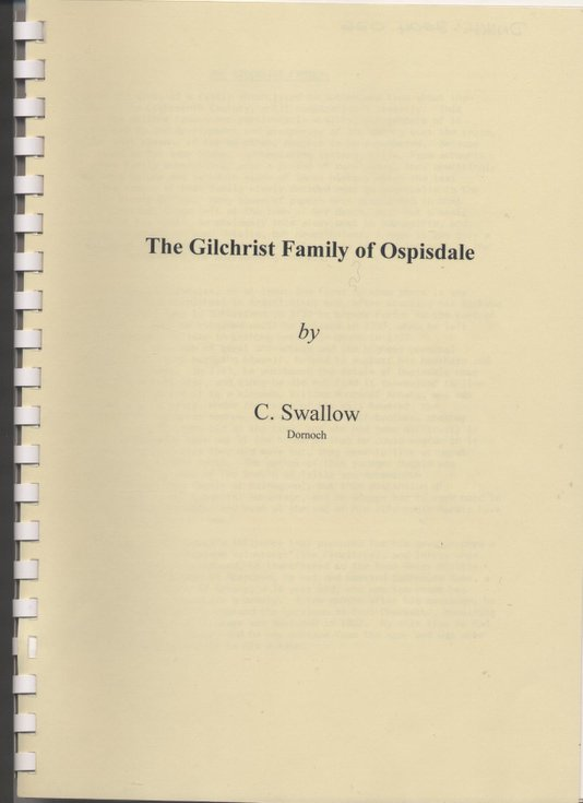 Gilchrist Family of Ospisdale