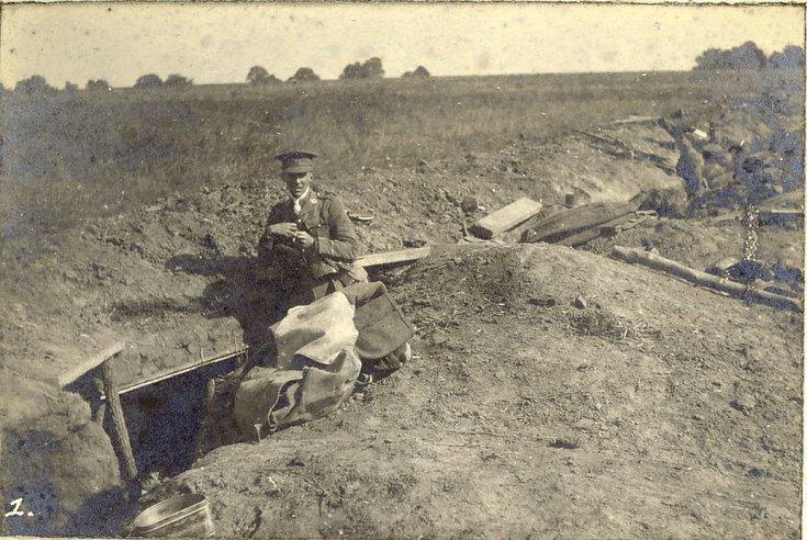 Front trench St. Marguerite World War 1