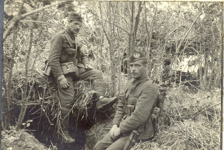 Machine Gun position outside a wood at Venizel