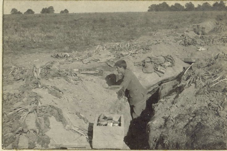 Front trench at St. Marguerite