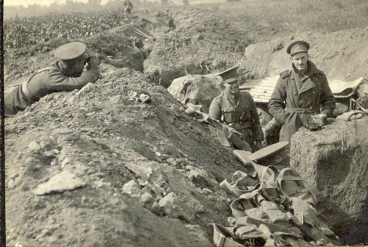 Front trench at St Marguerite with Artillery Officer
